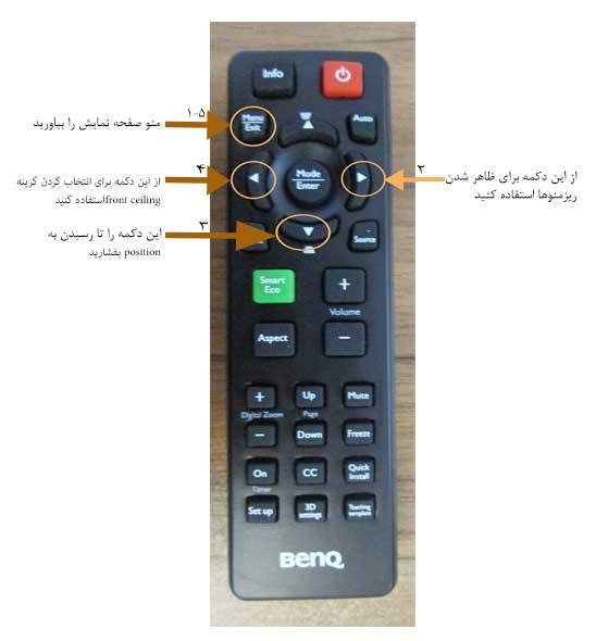 کنترل پروژکتور BenQ