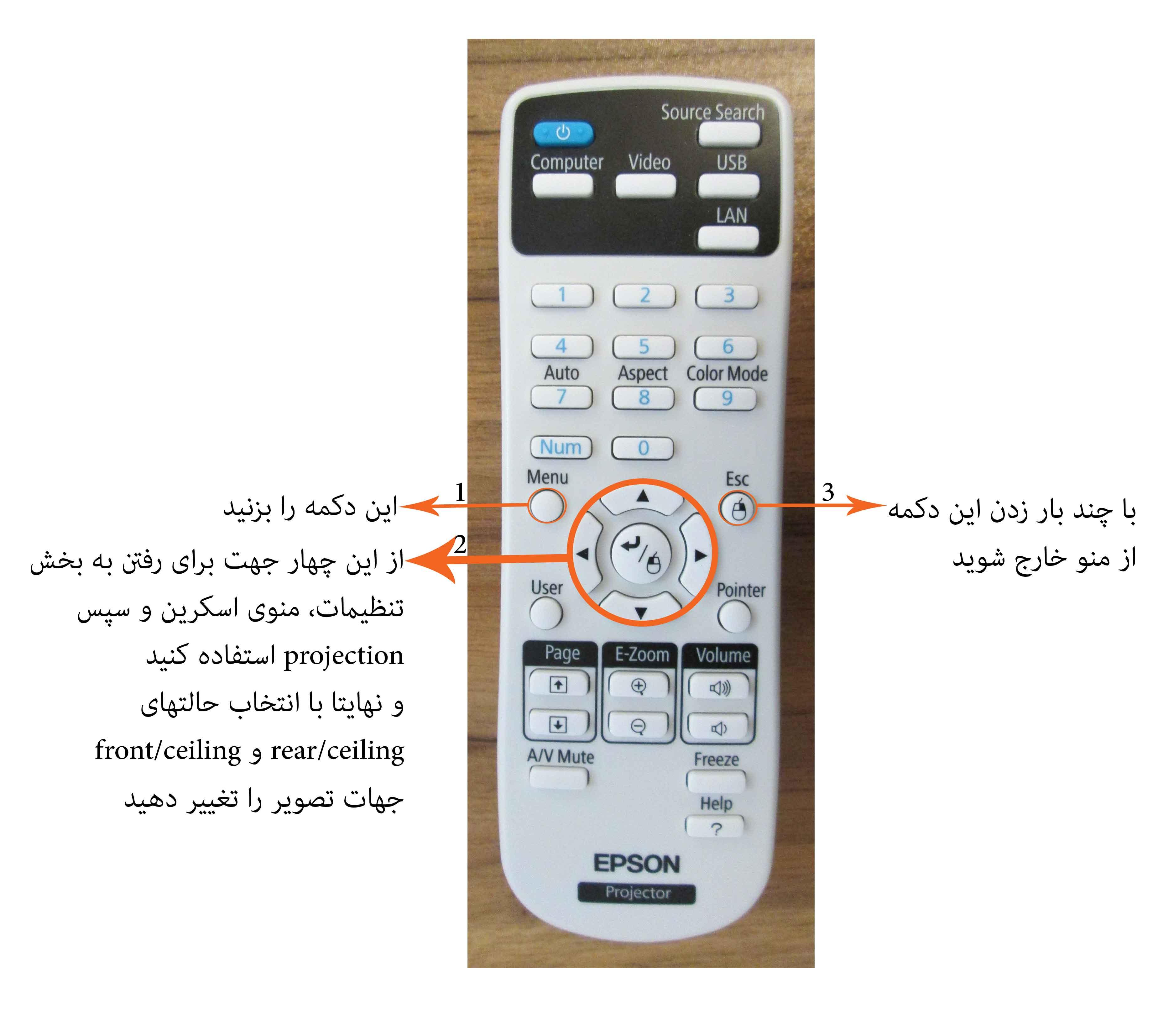 کنترل پروژکتور epson
