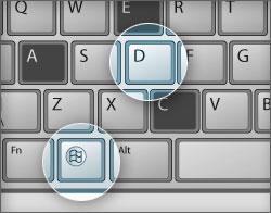 کلید های مخفی کردن موقت مطالب