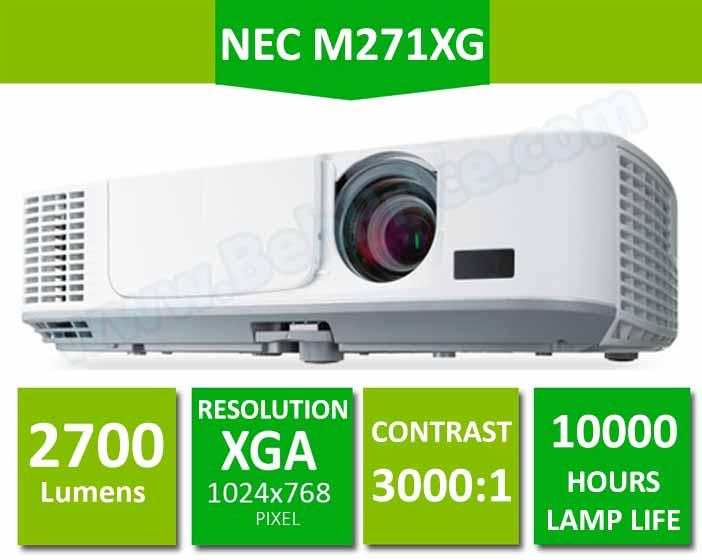 مشخصات کلیدی ویدئو پروژکتور ان ای سی NP-M271XG