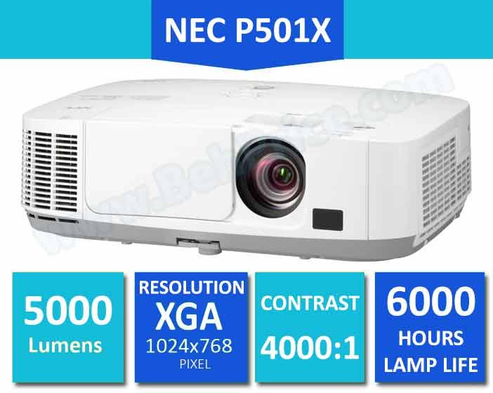 تصویر مشخصات کلیدی ویدئو پروژکتور NEC-P501X