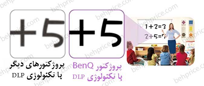 قابلیت خواندن متن و جزئیات زیاد تصاویر در پروژکتور BenQ-MS521