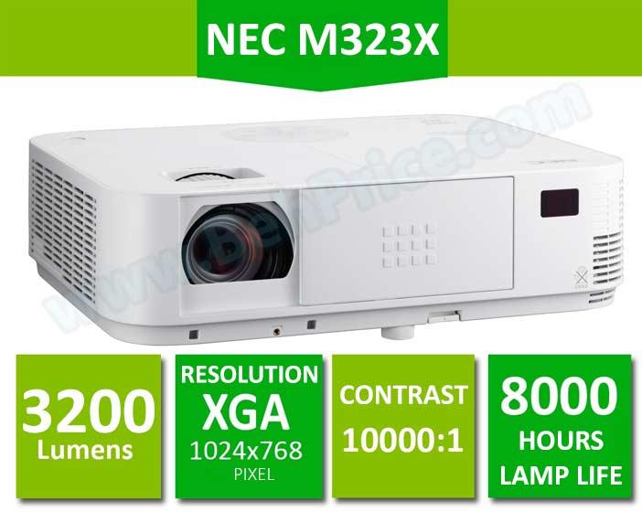 تصویر مشخصات اصلی ویدئو پروژکتور NEC-M323X