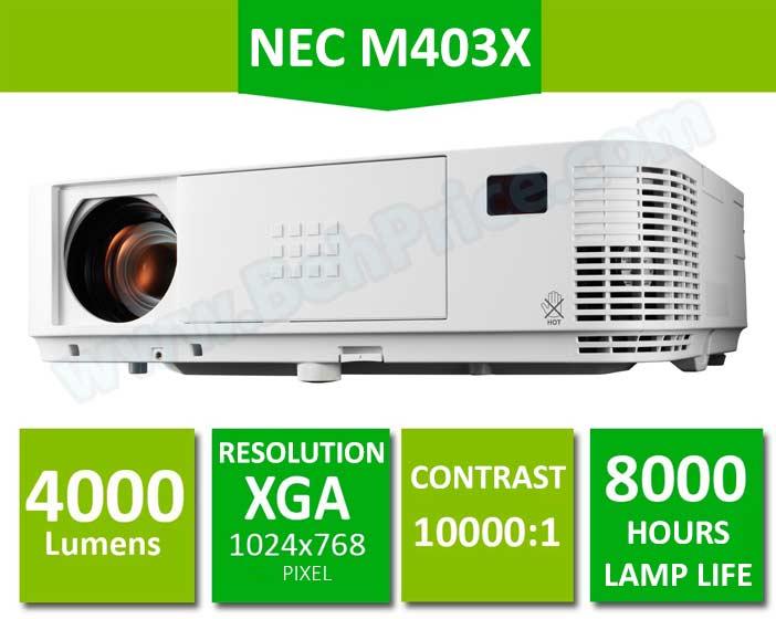 مشخصات اصلی ویدئوپروژکتور NEC-M403X