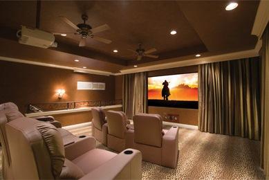 نصب پروژکتور سینمای خانگی و پرده نمایش