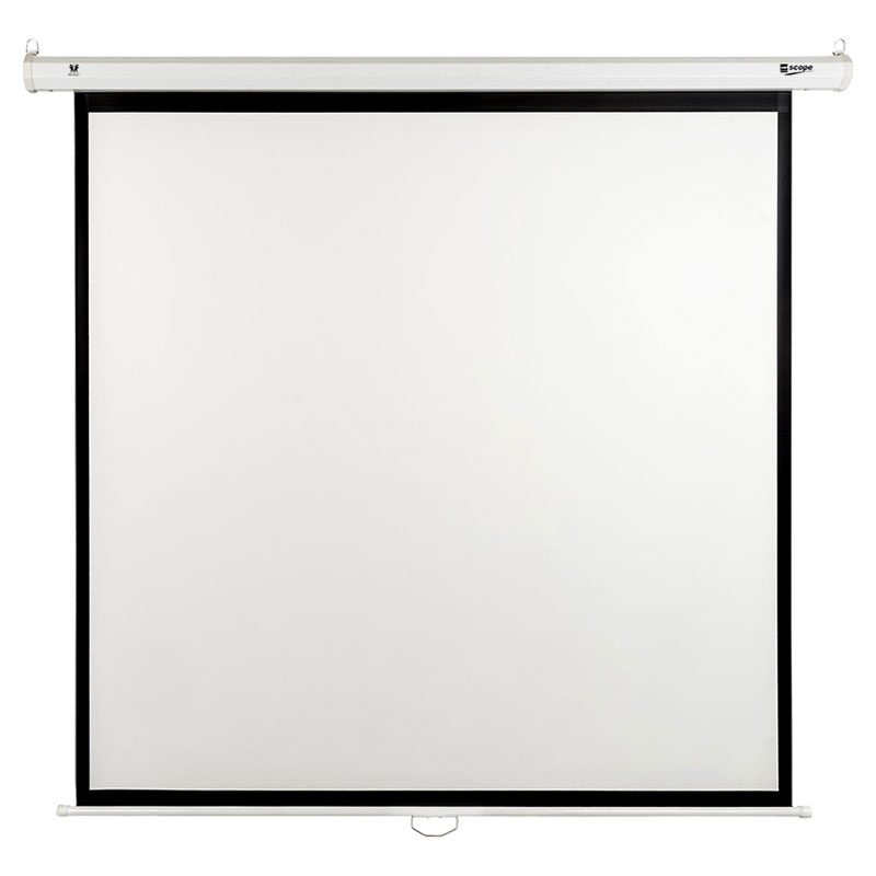 SITRO Manual Projector Screen 200 x 200 - Fiberglass