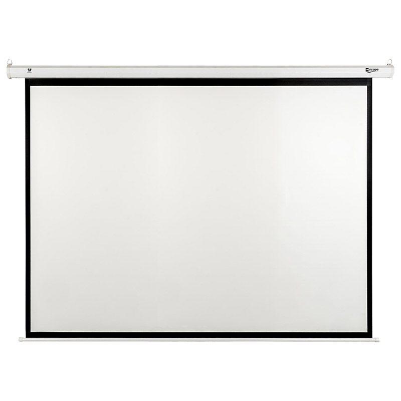SCOPE - Electric - Projector Screen - 4×3 - Matt White