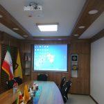 نصب ویدئو پروژکتور و پرده نمایش در اتاق کنفرانس