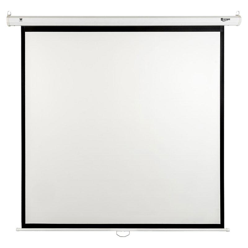 SITRO Manual Projector Screen 200 x 200 - Fiberglass